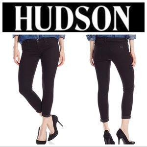 Hudson Jeans Harkin Black Super Skinny Crop Jeans